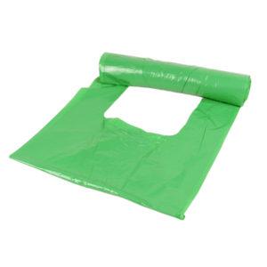 Optisk Källsorteringspåse 30L Grön LDPE 30my