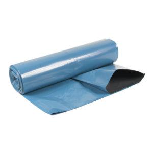 Sopsäck/Grovsäck 125L Blå/svart LDPE 55my