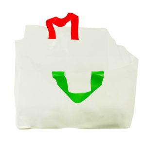 Pizzakasse m. handtag Röd/grönt MDPE Transparent