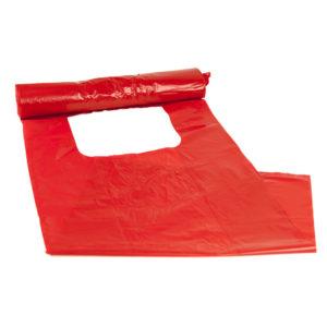 Optiskt Källsorteringspåse 30L Röd LDPE 30my